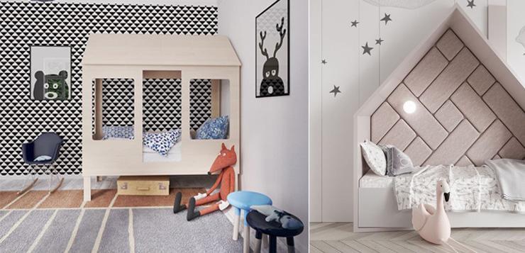 Кровать-домик для ребенка винтерьере