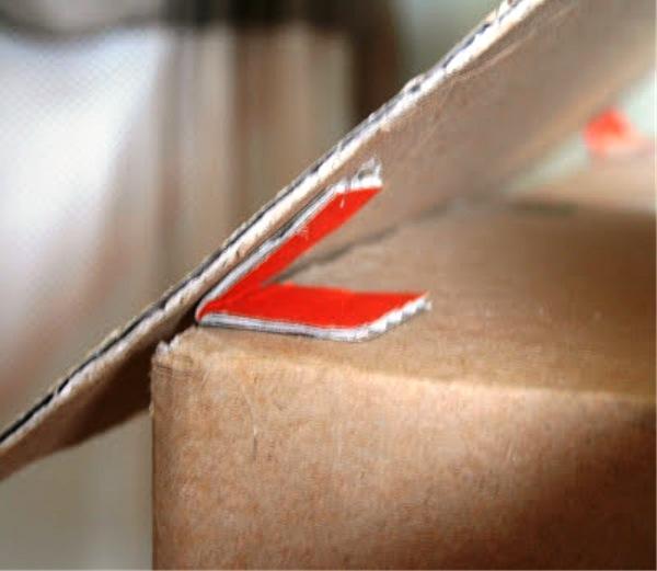 Домик из картона с трубой 2