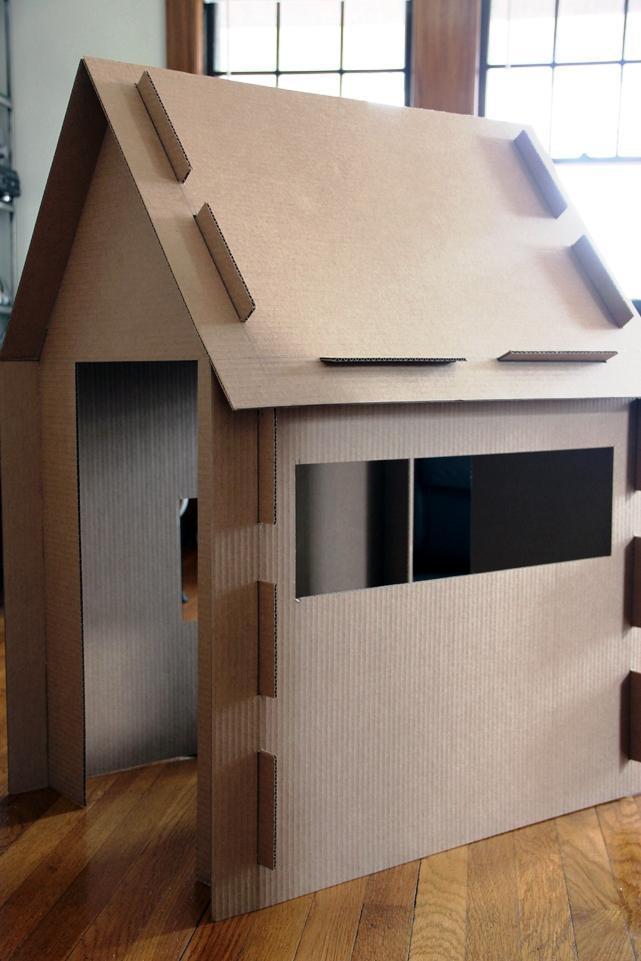 Дом из листов картона