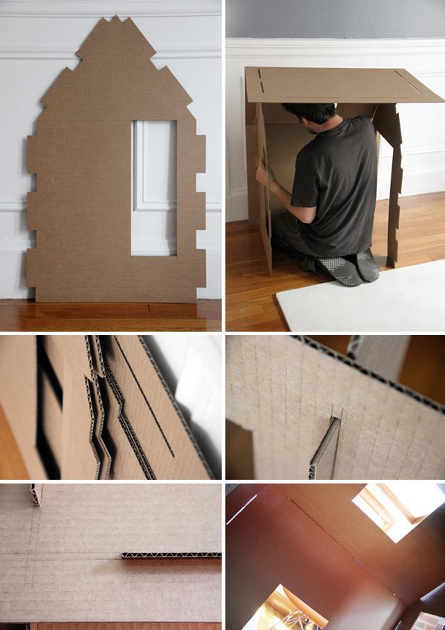 Дом из листов картона 2