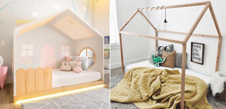 Как сделать кровать-домик из дерева своими руками