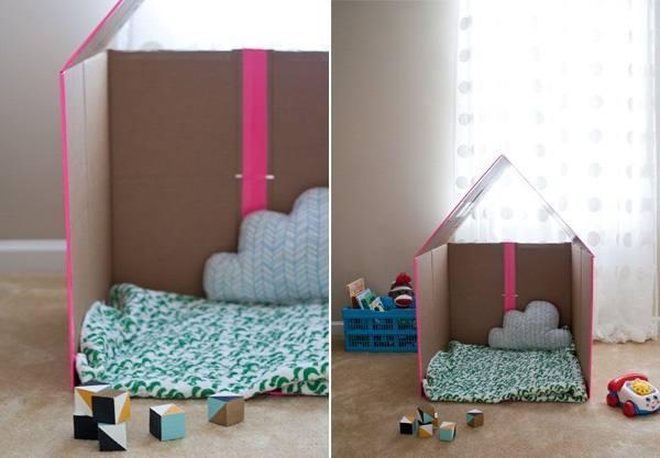 Картонный кукольный домик 10