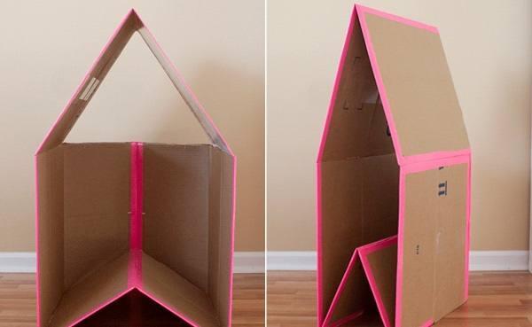 Картонный кукольный домик 9