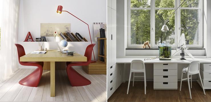 Письменный стол для двоих школьников в детскую